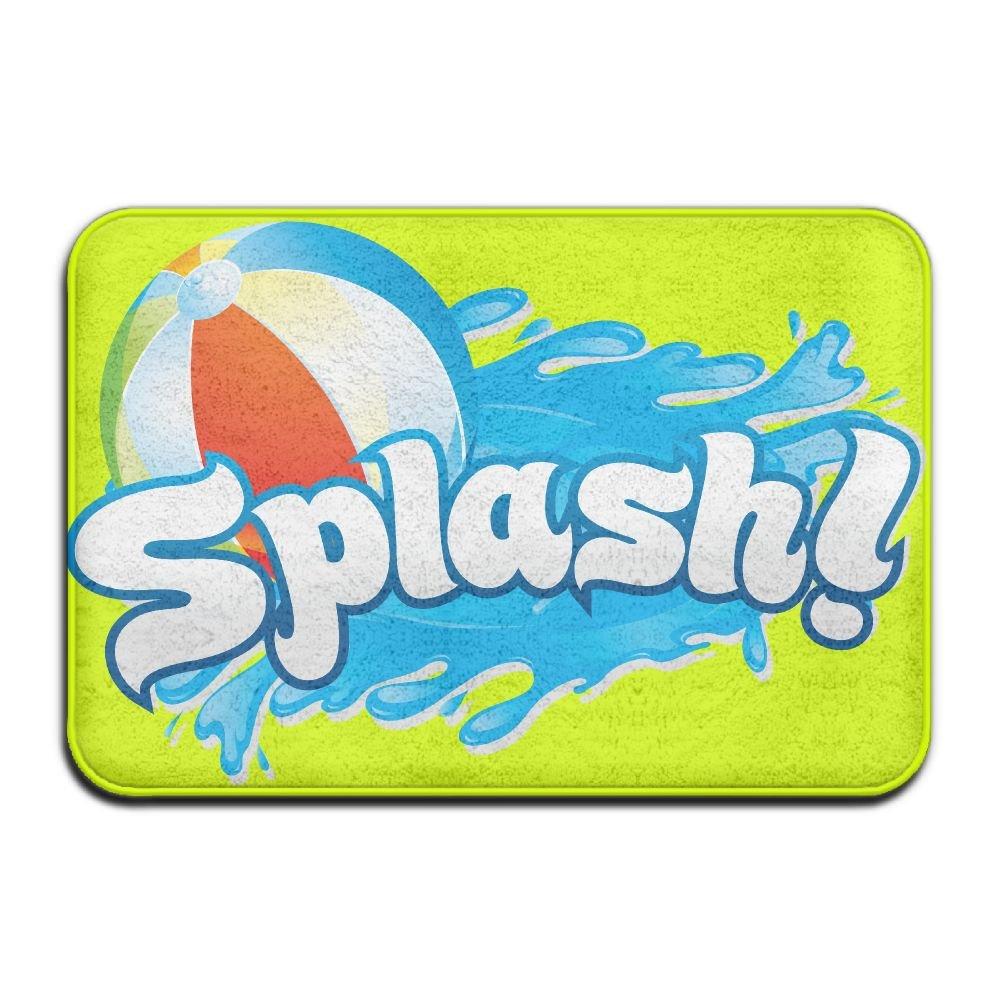 BINGO BAG Splash Pool Indoor Outdoor Entrance Printed Rug Floor Mats Shoe Scraper Doormat For Bathroom, Kitchen, Balcony, Etc 16 X 24 Inch