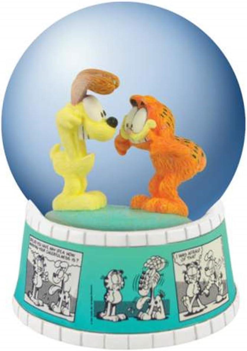 WL 85mm Garfield and Odie Water Globe Figurine with Comic Strip Base