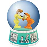 85mm Garfield and Odie Water Globe Figurine with Comic Strip Base