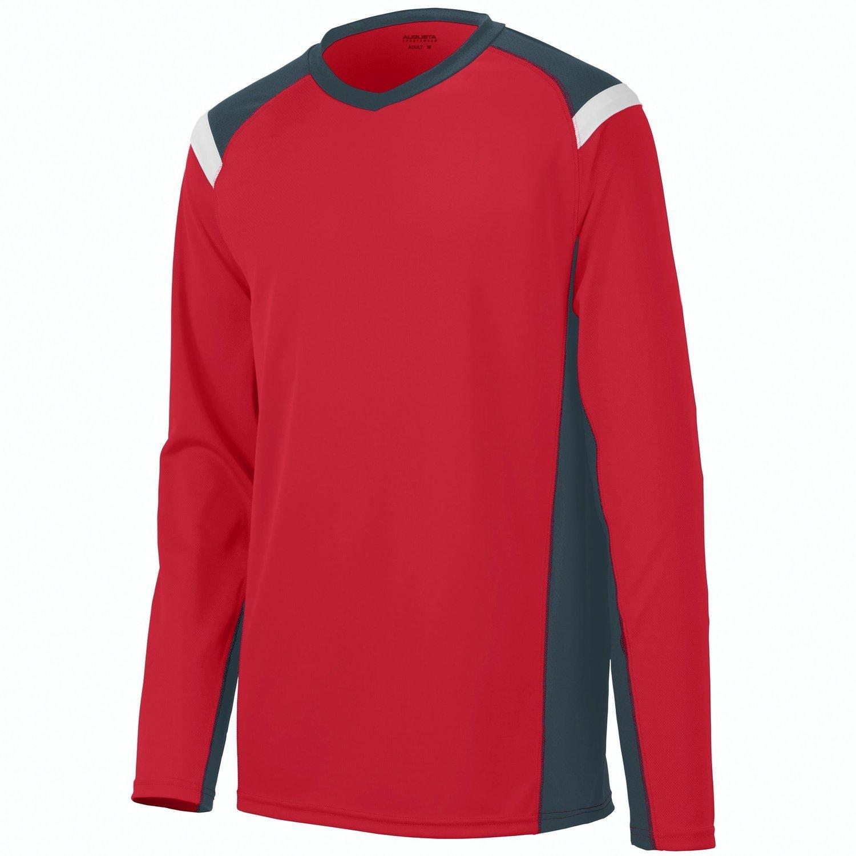 Augusta Sportswearメンズ斜め長袖ジャージー B010KBTEVY xx-large|Red/Slate/White Red/Slate/White xx-large