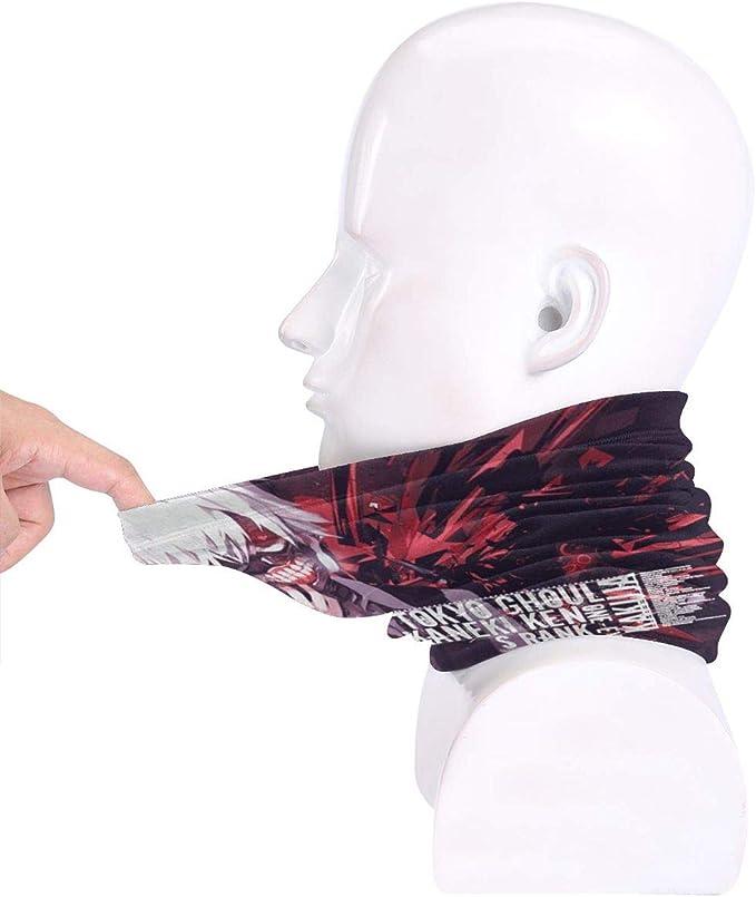 Schlauchtuch BERICHER Tokyo Ghoul Halstuch F/ür Damen Und Herren 340 Bandana Cooles Design In Trendfarben
