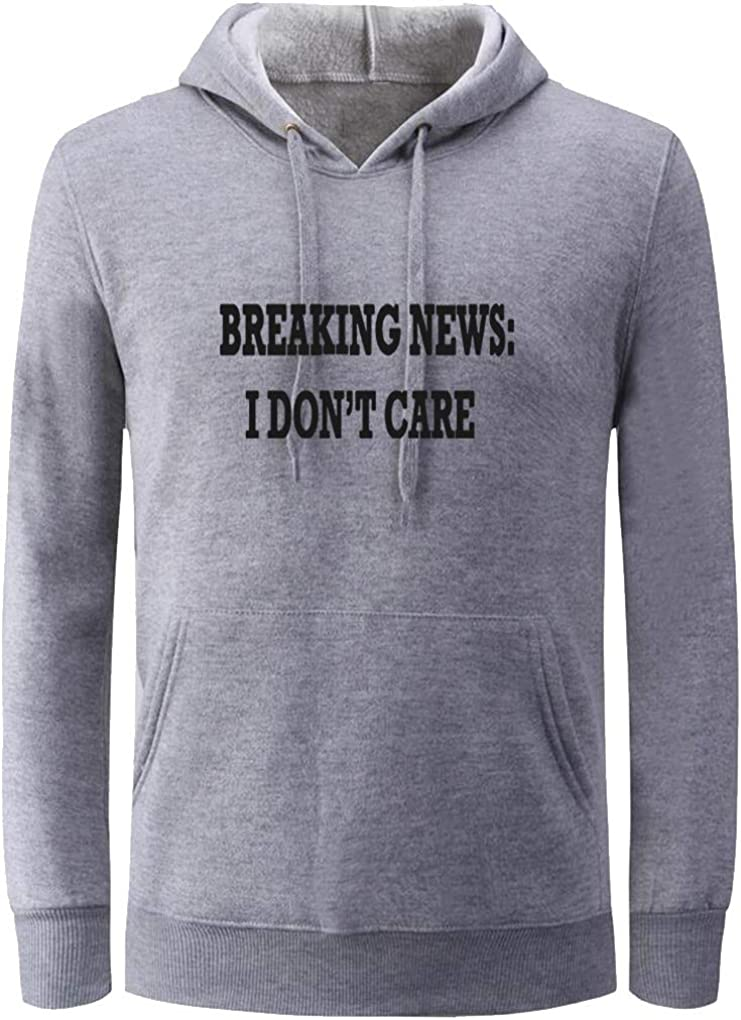 Unisex Clothes Breaking News I Dont Care Funny Novelty Hoodies