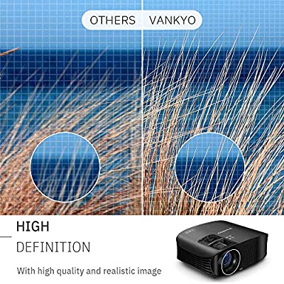 """VANKYO Leisure 510 Full HD Projector with 3800 Lux, Video Projector with 200"""" Projection Size, Support 1080P HDMI VGA AV USB with Free HDMI Cable and Carrying Bag"""