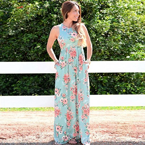 IMJONO Womens Celeb Boho Long Maxi vestido de damas verano Beach Party Sun vestido