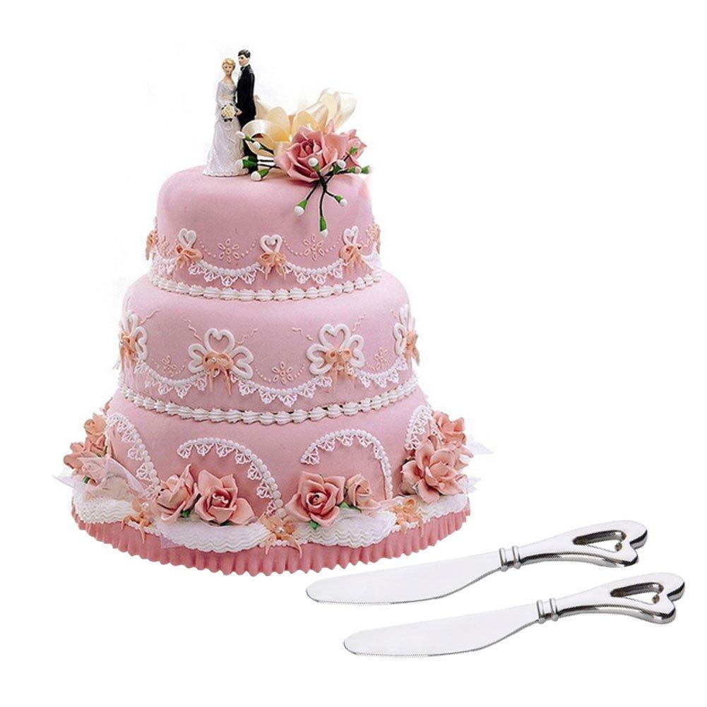 Amazon.com | BleuMoo Wedding Party Cake Knife Heart Shape Handle ...