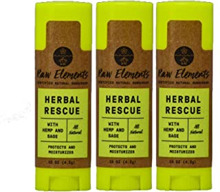product image for Raw Elements Organic Herbal Rescue Lip Balm, 0.15oz (3-Pack)