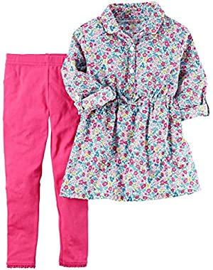 Baby Girls' 2 Piece Floral Top Set