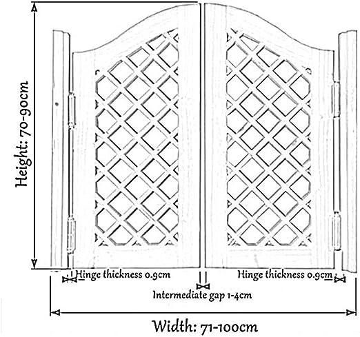 Color : White, Size : 60cmx100cm Kiefer Holz Unterst/ützen Gr/ö/ße Anpassen guowei Solide Holz Saloon T/ür Cafe T/ür Schwingen T/ür Bar K/üche Restaurant Eingang Partition Scharnier Inbegriffen