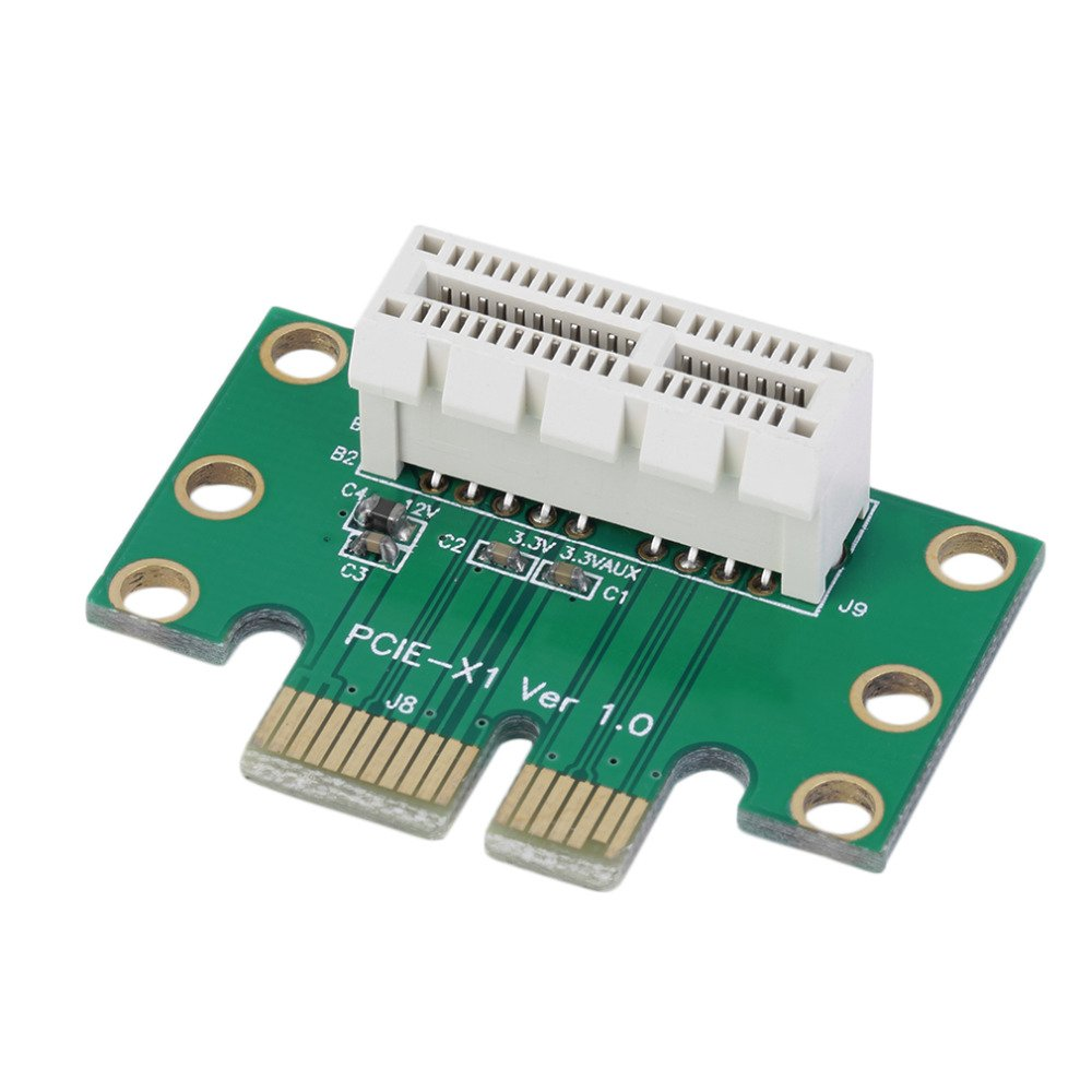 3 Units - PCI Express (PCI-E) 1X Adapter Riser Card 90 Degree For 1U/2U Server Chassis AsteriskCanada