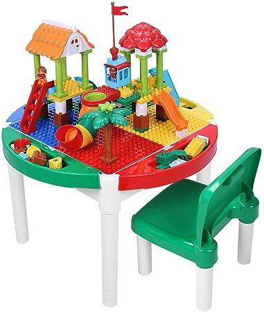 Mesa de Juego Mesa De Juegos para Niños Mesa De Construcción Multifunción Juguetes para Armar Rompecabezas Mesa De Estudio para Niños Regalos para Niños (Color : Color, Size : 62.5 * 42.5cm): Amazon.es: Hogar