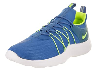 nike mens darwin nero / bianco, verde elettrico casuale scarpe leggere