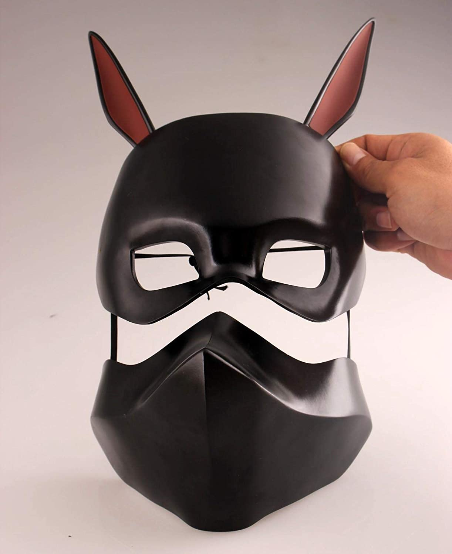 Amazon Com Gmasking Tokyo Ghoul Kirishima Ayato Black Cosplay Mask 1 1 Replica Props Clothing