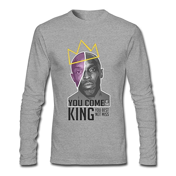 GPIFHD Men\'s Omar Little The Wire T Shirts Long Sleeve Grey M ...