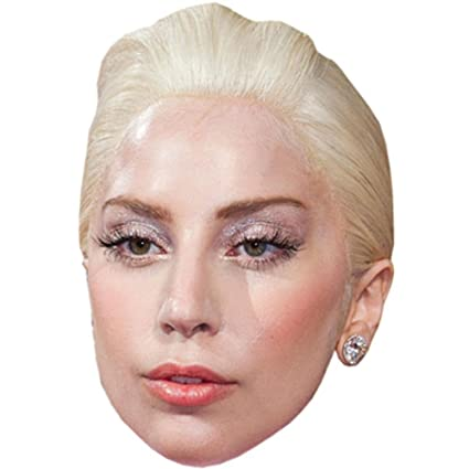 Amazon Com Lady Gaga Celebrity Mask Card Face And Fancy Dress Mask