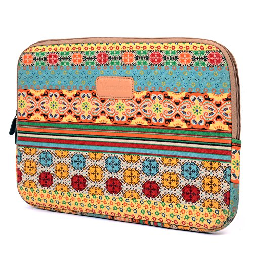 Varylala Bohemian Style Canvas Sleeve Case Bag Cover for 11-inch Laptop / MacBook Air / Samsung Chromebook (Bohemian Pattern, 11 inch)