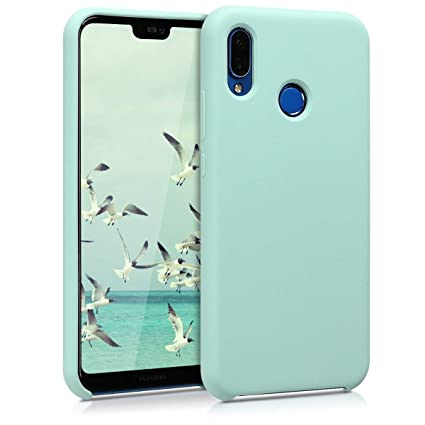 kwmobile TPU Silicone Case Compatible with Huawei P20 Lite - Soft Flexible Rubber Protective Cover - Mint Matte