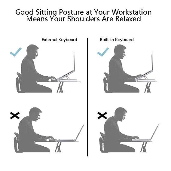 Supporto per Laptop Desktop Portatile ventilato Pieghevole Supporto ergonomico per MacBook//Laptop//Computer Notebook//Tablet-Matt Finishing MFEI Supporto per Laptop