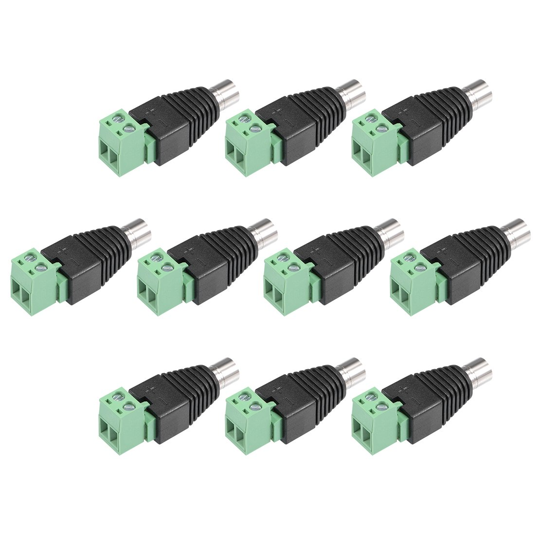 uxcell DC Female Connector 5.5x2.1mm Power Jack Removable Terminal Block Adapter 10Pcs for Led Strip CCTV Security Camera Cable Wire Ends by uxcell