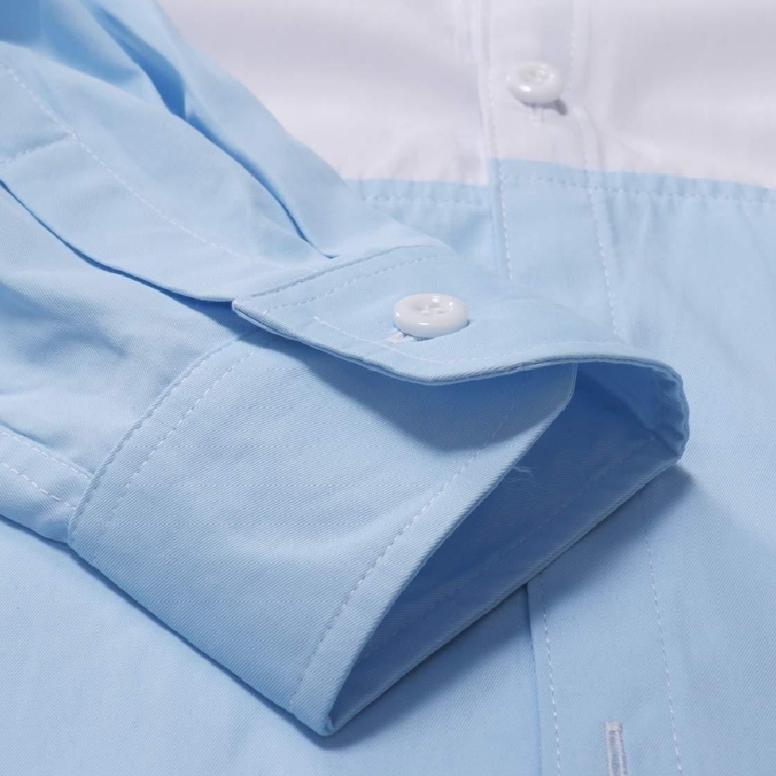 DressUMen Stitch Asymmetric Hem Oversize Leisure Tops Shirt Tee