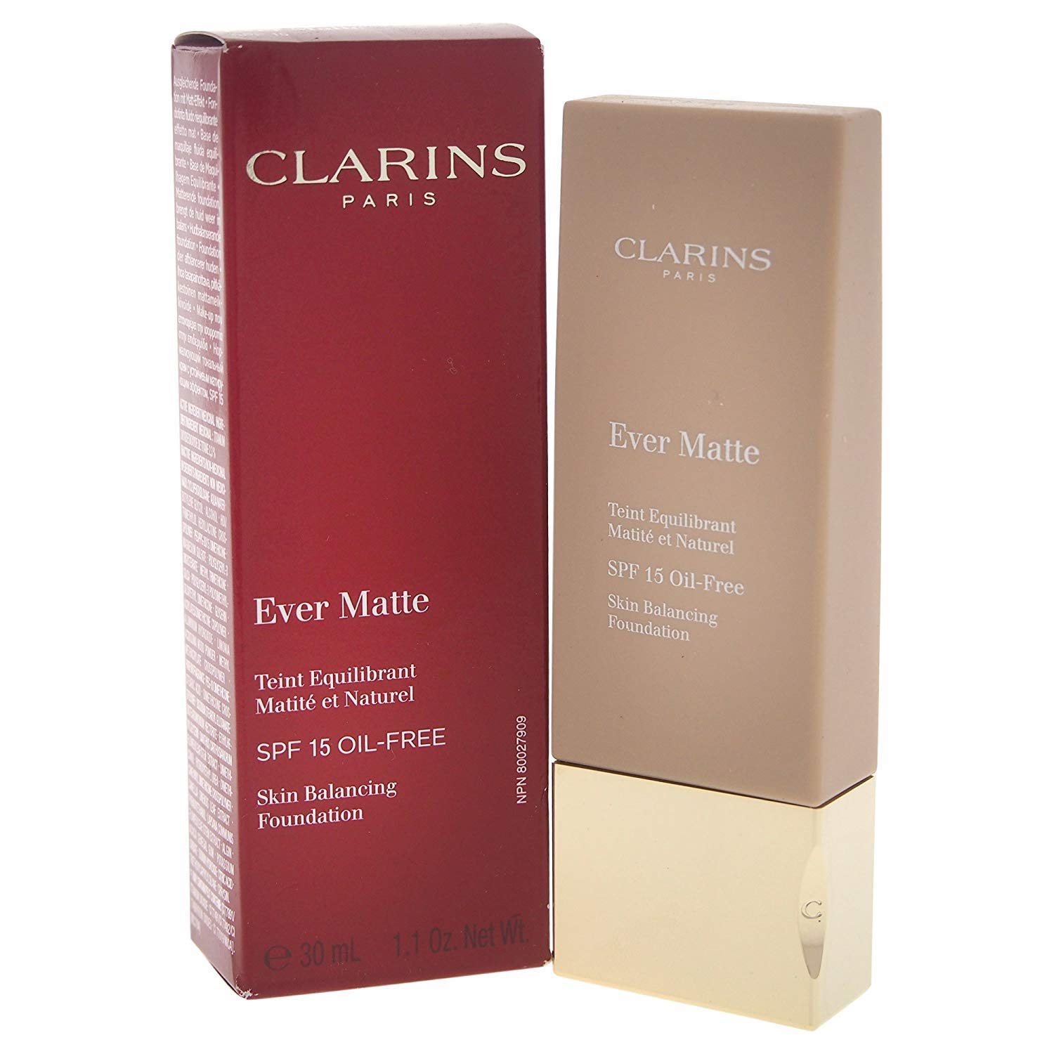 clarins ever matte oil free foundation