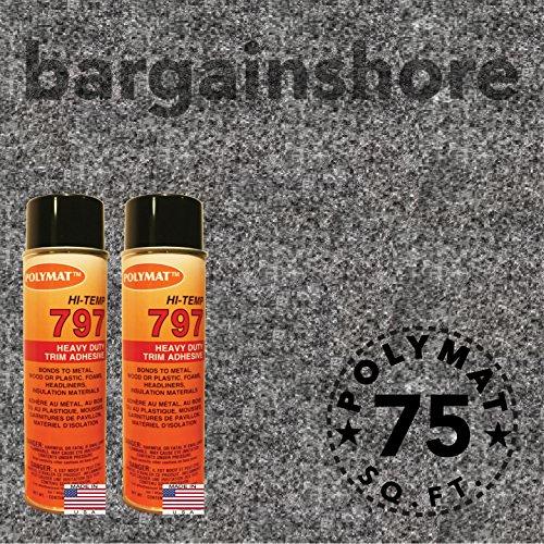 Datsun Carpet - 20FT X 3.75FT +2 797 GLUE Datsun Headliner Polymat S25 Roll CHARCOAL Carpet Liner