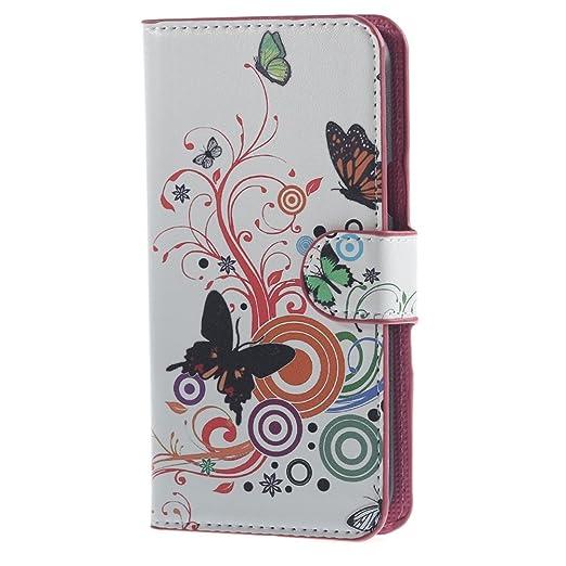 88 opinioni per Samsung Galaxy J5 Flip Cover,PU Cuoio Flip Case Caso Con carte di credito slot