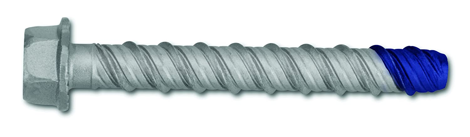 Powers Fastening Innovations 7786SD 3/4-Inch by 6-Inch Wedge Bolt and Blue Tip Large Diameter Screw Anchor Mechanically Galvanized, 20 Per Box