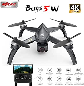 Alician MJX Bugs 5 W B5W 5G WiFi FPV with 4K Camera GPS Brushless Altitude Hold RC Drone Quadcopter RTF 1 Battery