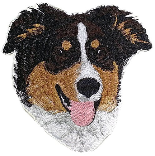 alian Shepherd Dog Face Embroidery IronOn/Sew patch [5.5