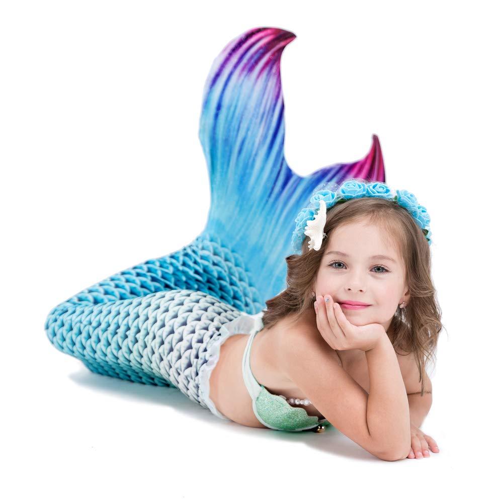 Mädchen Schwimmen Meerjungfrauenschwanz Kostüm Badebekleidung Badebekleidung Badebekleidung mit Monoflosse für Kinder 3-11 Jahre B07PM5GNY2 Badeanzüge Sorgfältig ausgewählte Materialien c7827a