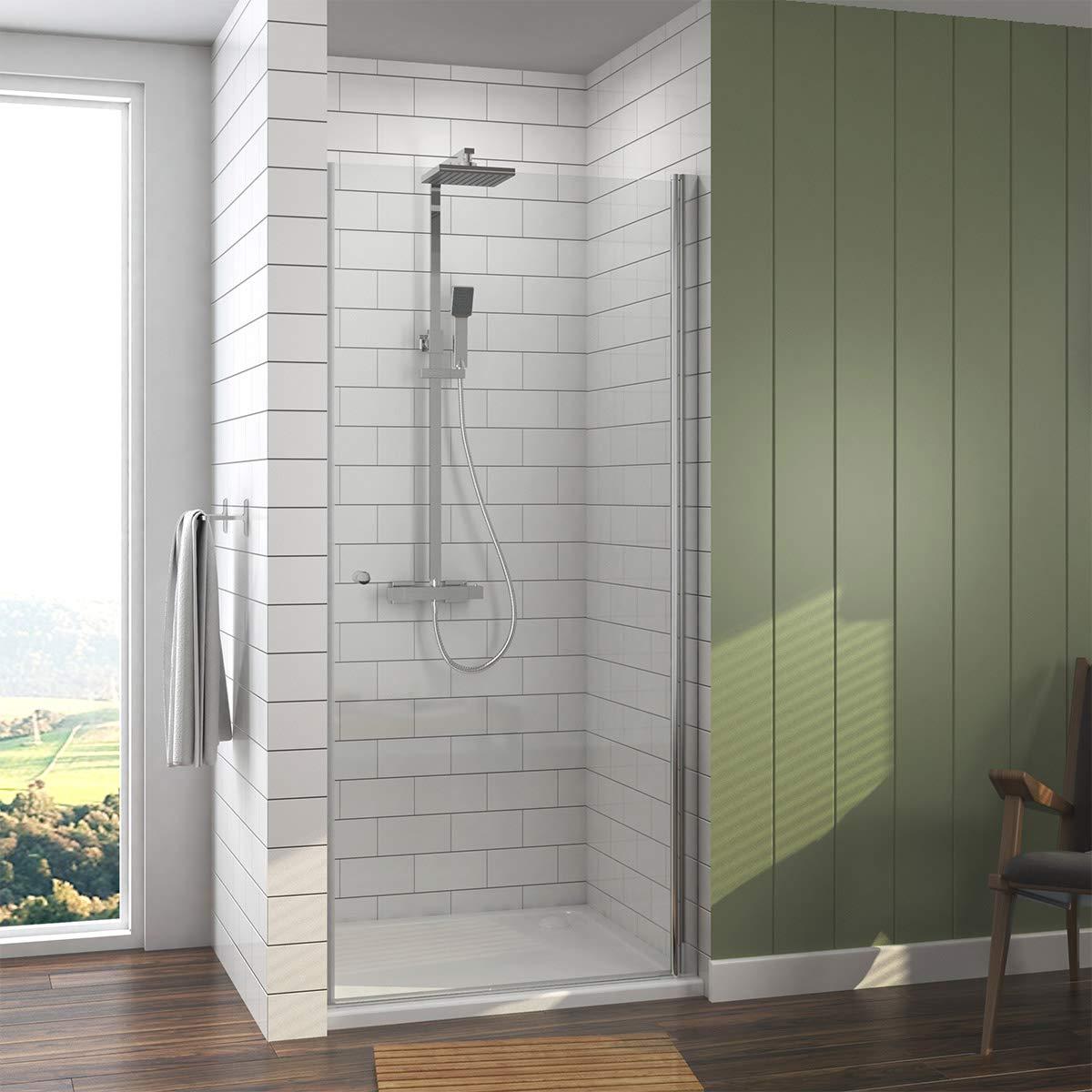 90 x 185 cm Duschtü r Duschkabine Pendeltü r Duschabtrennung mit NANO Beschichtung EMKE