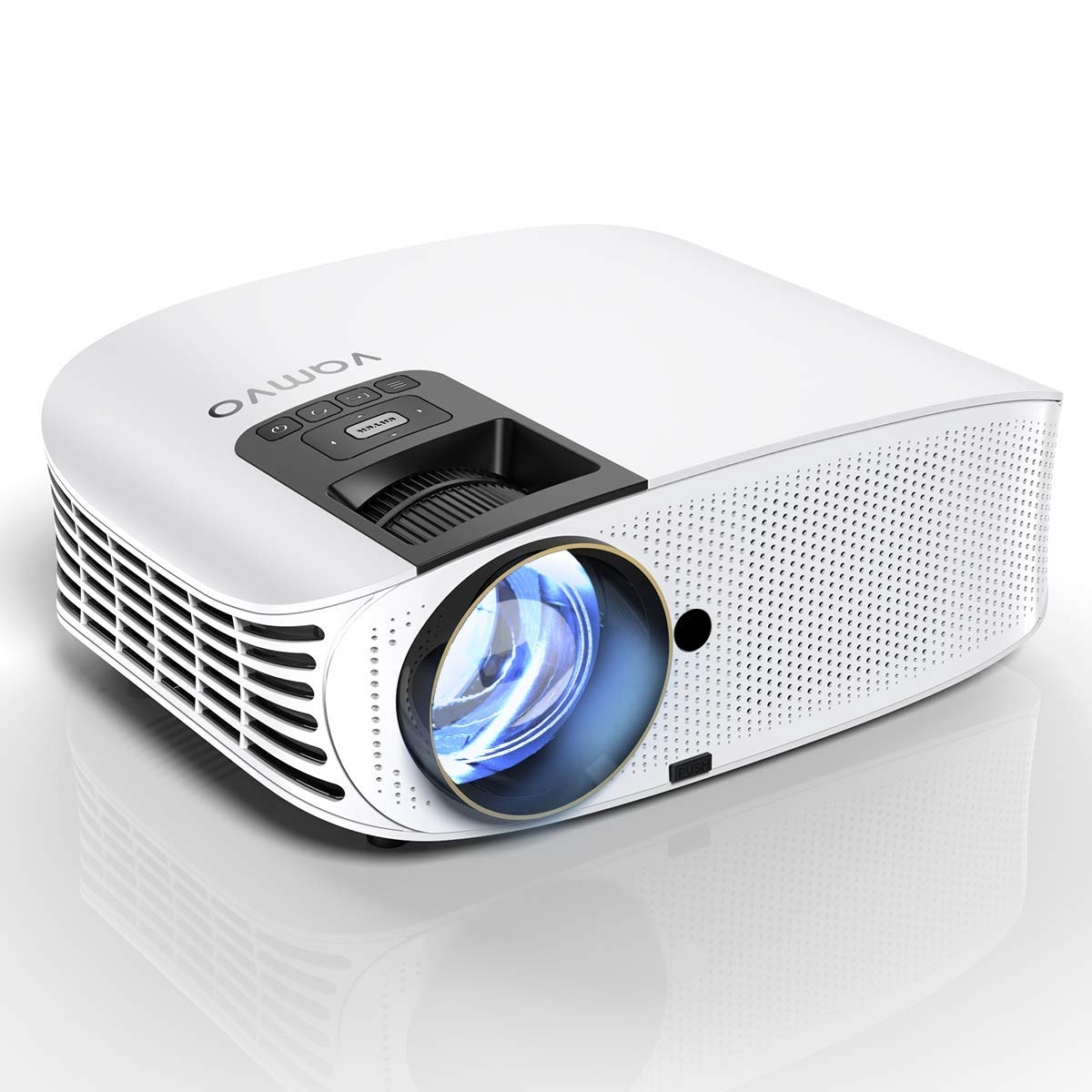 HD Projector Connect to Smartphone, Vamvo Movie Projector 200'' LCD Home Theater Video Projector Support 1080P HDMI VGA AV USB MicroSD for Home Entertainment, Party and Game L3600W