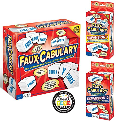 Faux-Cabulary The Wild Word Game – Complete Set (Includes both party games Expansion 1 and Expansion 2)