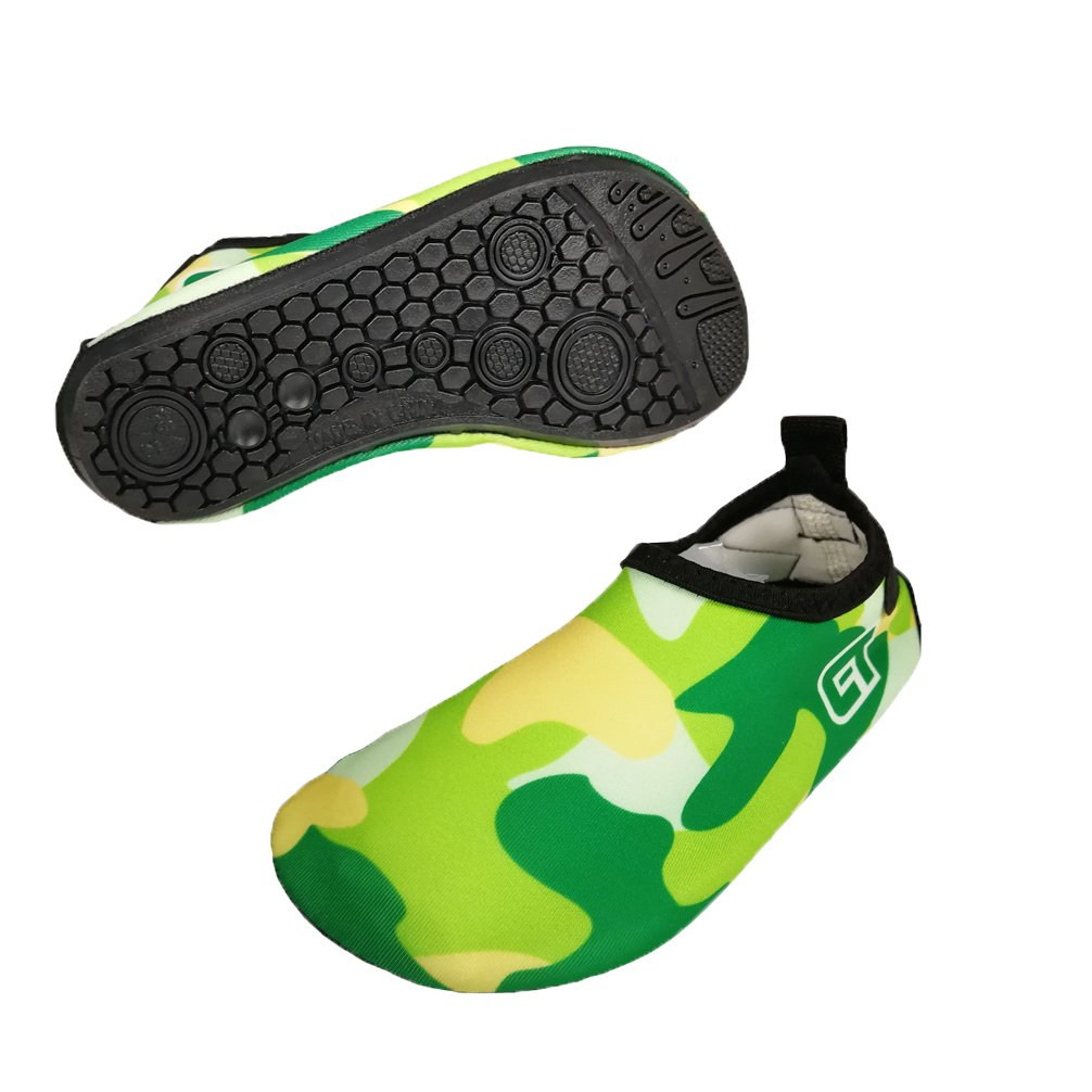 Luwint Boys Girls Quick-Dry Water Shoes Cool Kids Barefoot Beach Aqua Socks for Pool Swim Surf Yoga Dancing Trampoline