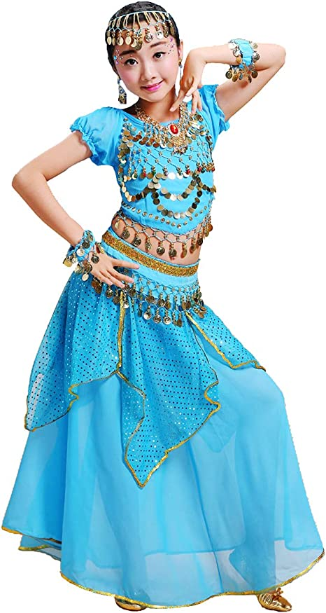 Grouptap Bollywood Girls Indian Princess Arabian Belly Dance Wear ...
