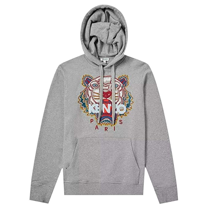 0e96707aeb Amazon.com: Kenzo Men's Classic Tiger Hoodie, Grey Sweatshirt: Clothing