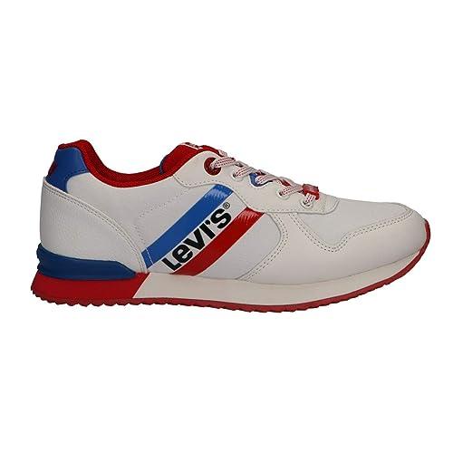Zapatillas Deporte de Niño y Niña y Mujer Levis VSPR0004T Springfield 2665 White: Amazon.es: Zapatos y complementos