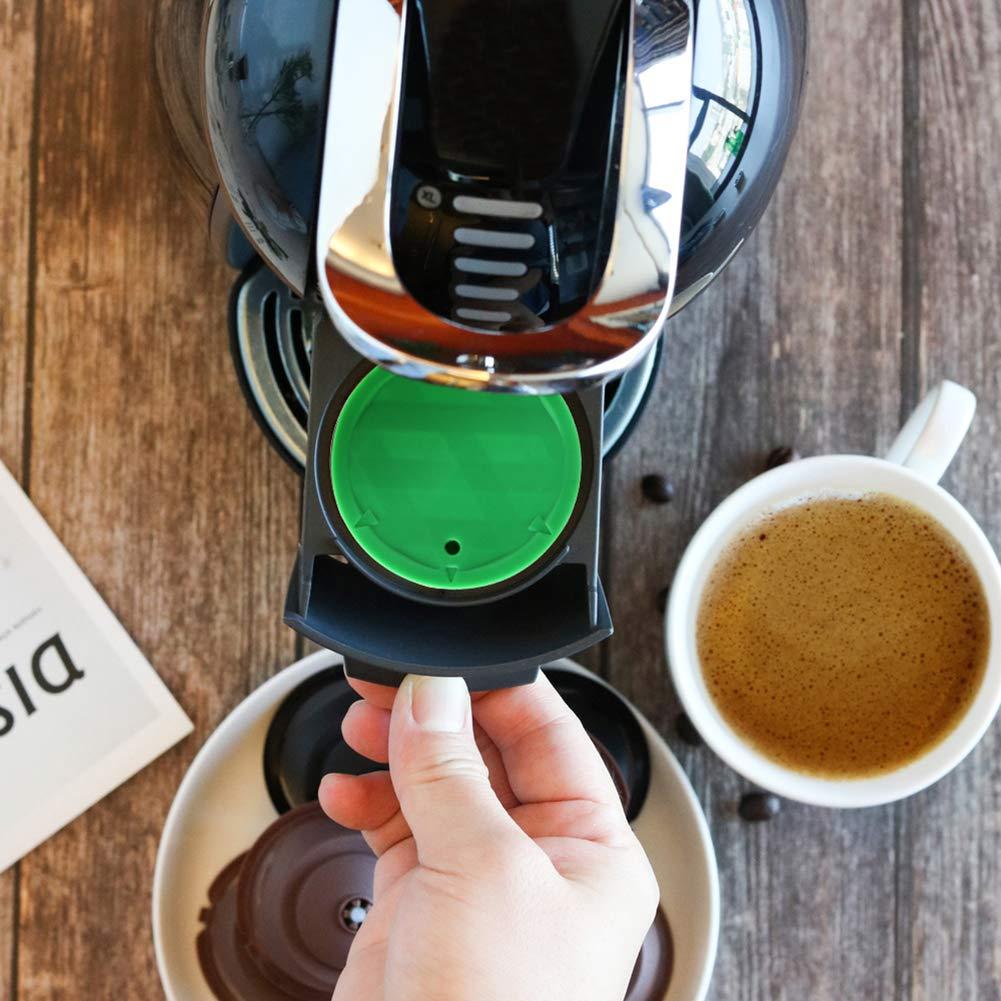 Herramientas de Cocina y Gadgets C/ápsula de caf/é pengyu- Filtro de c/ápsula de caf/é rellenable de Acero Inoxidable para Dolce Gusto C/ápsula de Plata Tamper