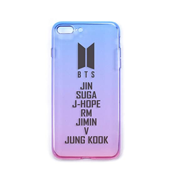 Fanstown Kpop Bts Bangtan Boys I Phone Case Tpu Blue To Pink Gradient Theme Color Phone Case by Fanstown