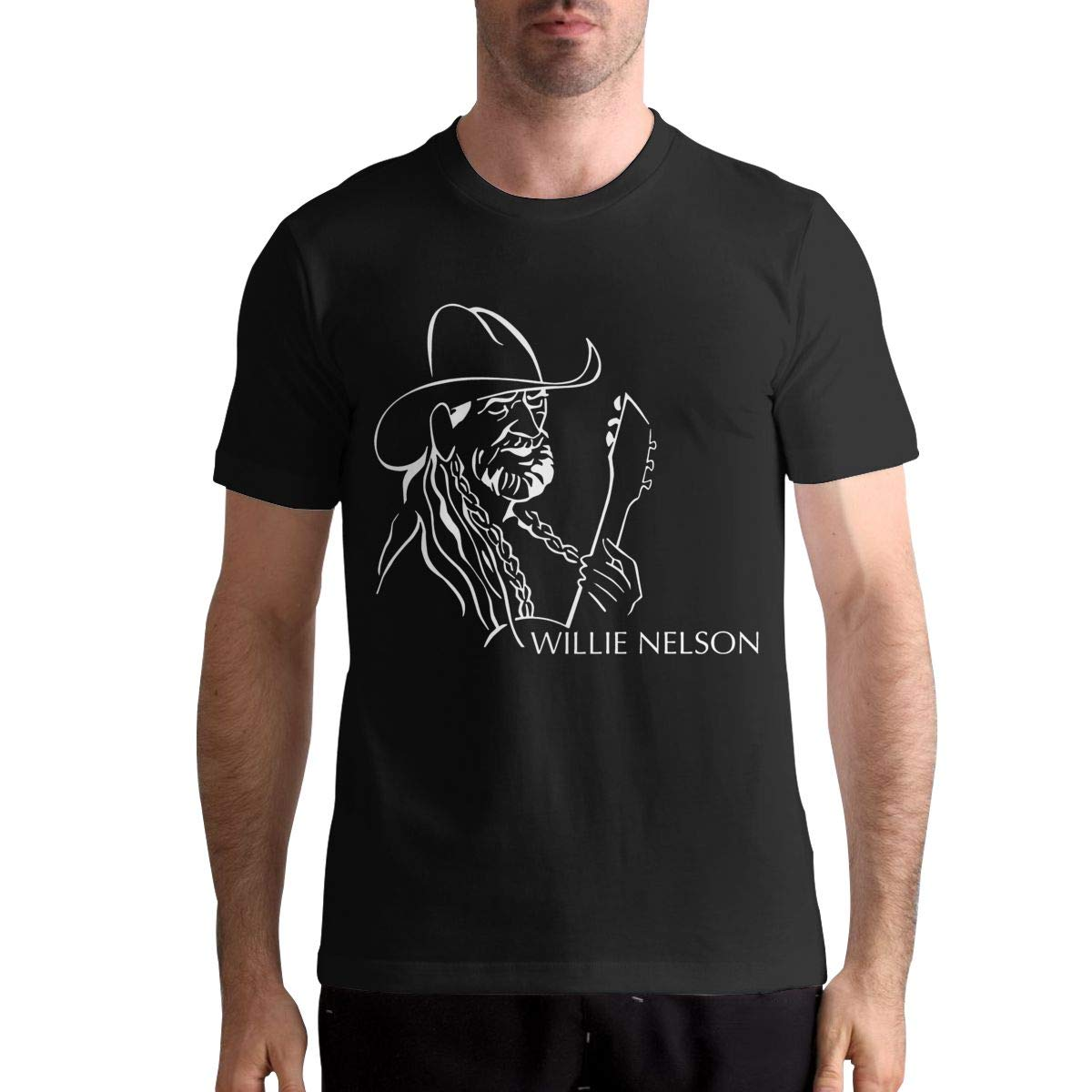 Willie Nelson T Shirt Mens Casual Personality Fashion Short Sleeved Shirt