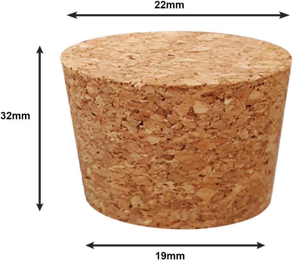 CB014 14 mm varios tama/ños 14 mm Tapones de corcho c/ónicos 127 mm 1 PC