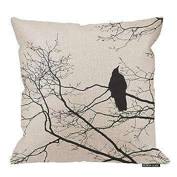 Amazon.com: HGOD DESIGNS - Funda de cojín de lino suave ...