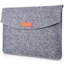 ProCase 15 - 15.4 Inch Felt Laptop Sleeve Bag, 15 Inch Macbook Pro Retina Other Chromebook Ultrabook Notebook Felt Laptop Bag Sleeve Case -Grey
