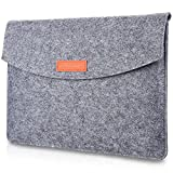 ProCase 13-13.5 Inch MacBook Pro 13 / MacBook Air/Retina MacBook Pro/Surface Laptop/Surface Book / 12.9 Inch iPad Pro Sleeve Case Cover Ultrabook Netbook Carrying Case Protective Bag -Gray