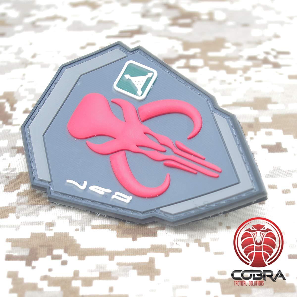 Cobra Tactical Solutions Military PVC Patch Cazarecompenzas Boba Fett Mandalorian Bantha cr/áneo Rojo con Velcro para Airsoft para Ropa//Mochila T/áctica Paintball