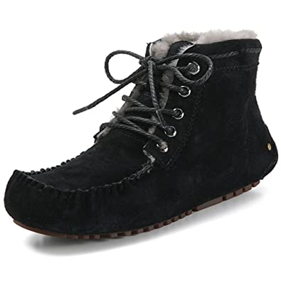 Women's Fashion New Designed Flat Boots Quality Leather Sheepskin Shoes