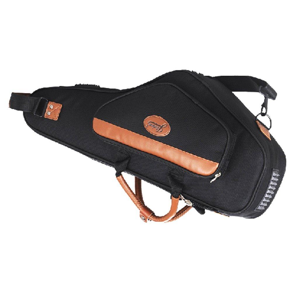 Alto Saxophone Case Saxophone Bag Saxophone Soft Gig Bag Padded Portable Shoulder Strap Backpack Oxford Cloth with Exterior Pocket (Black) sleeri SXC11