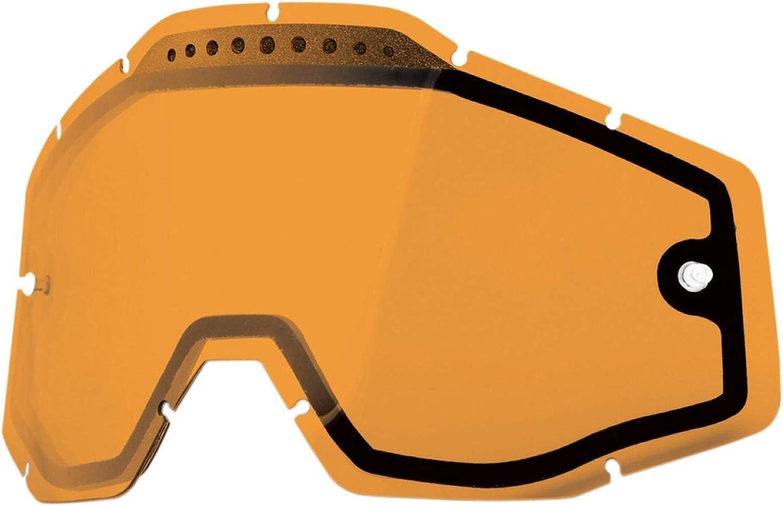100/% Ersatzglas Racecraft//Accuri//Strata Doppelglas ventiliert Anti-Fog orange