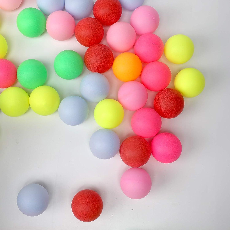 100Pcs//set Colored Ping Pong Balls Entertainment Table Tennis Ball MultiColor w//