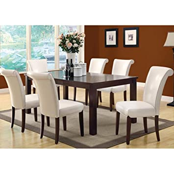 Amazon.com - Monarch Specialties Veneer Top Dining Table, 40-Inch ...